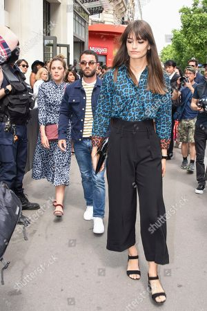 Stock Photo of Alysson Paradis and Clara Luciani Street Style