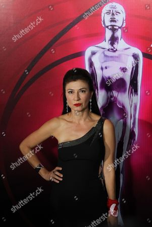Leticia Huijara poses on the red carpet of the 61st Ariel Awards of the Mexican Academy of the Cinematographic Arts and Sciences (AMACC) at the National Firm Archive in Mexico City, Mexico, 24 June 2019.