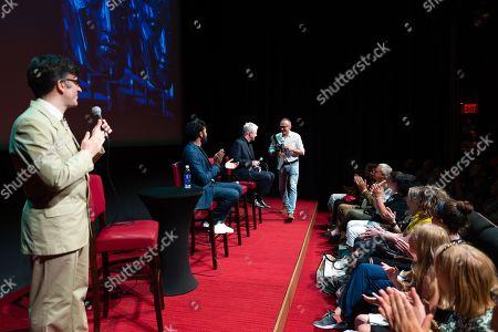 Stock Image of Jason Simos, Himesh Patel, Richard Curtis and Danny Boyle