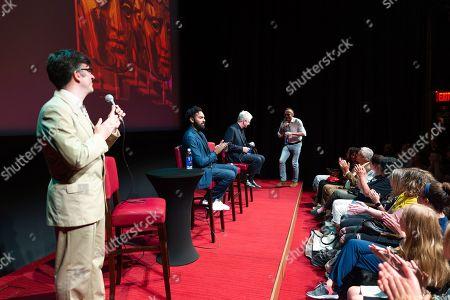 Jason Simos, Himesh Patel, Richard Curtis and Danny Boyle