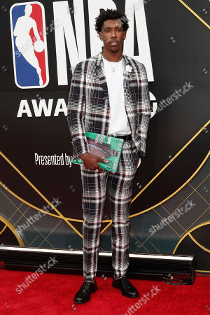 US basketball player Josh Richardson poses for photographers upon his arrival for the 2019 NBA Awards at Barker Hangar in Santa Monica, California, USA, 24 June 2019. The 2019 NBA Awards will be the 3rd annual awards show by the National Basketball Association (NBA).