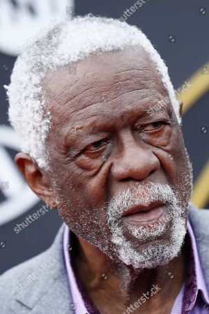 Former US basketball player Bill Russell poses for photographers upon his arrival for the 2019 NBA Awards at Barker Hangar in Santa Monica, California, USA, 24 June 2019. The 2019 NBA Awards will be the 3rd annual awards show by the National Basketball Association (NBA).