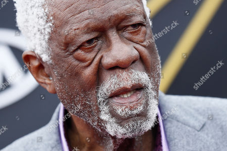 Stock Image of Former US basketball player Bill Russell poses for photographers upon his arrival for the 2019 NBA Awards at Barker Hangar in Santa Monica, California, USA, 24 June 2019. The 2019 NBA Awards will be the 3rd annual awards show by the National Basketball Association (NBA).