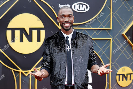 US actor Jay Pharoah poses for photographers upon his arrival for the 2019 NBA Awards at Barker Hangar in Santa Monica, California, USA, 24 June 2019. The 2019 NBA Awards will be the 3rd annual awards show by the National Basketball Association (NBA).