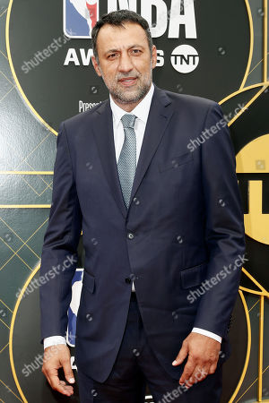 US basketball player Vlade Divac poses for the photographers upon his arrival for the 2019 NBA Awards at Barker Hangar in Santa Monica, California, USA, 24 June 2019 (issued 25 June 2019). The 2019 NBA Awards will be the 3rd annual awards show by the National Basketball Association (NBA).