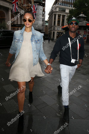 Stock Photo of Alesha Dixon and Azuka Ononye at Global Studio