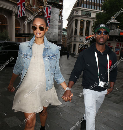 Alesha Dixon and Azuka Ononye at Global Studio