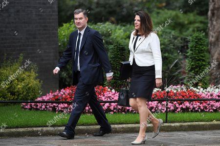 David Gauke and Caroline Nokes arrive at No.10 Downing Street