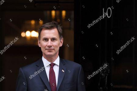 Jeremy Hunt leaves No.10 Downing Street