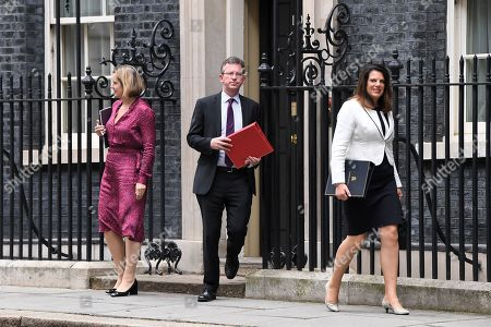 Amber Rudd, Jeremy Wright and Caroline Nokes leave No.10 Downing Street