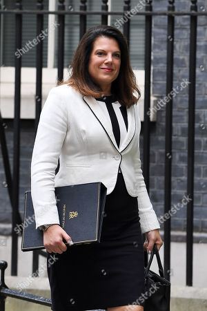 Caroline Nokes, Immigration Minister, leaves No.10 Downing Street