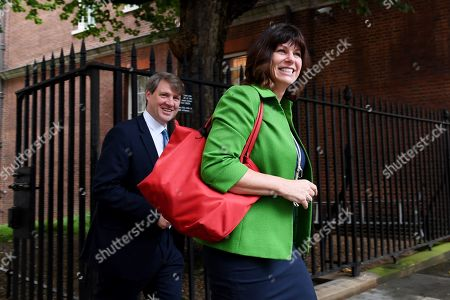 Chris Skidmore and Claire Perry arrive at No.10 Downing Street