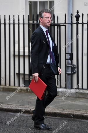 Jeremy Wright, Secretary of State for Digital, Culture, Media and Sport, arrives at No.10 Downing Street