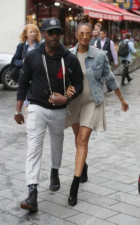 Alesha Dixon and Azuka Ononye at Global Studio for Heart FM