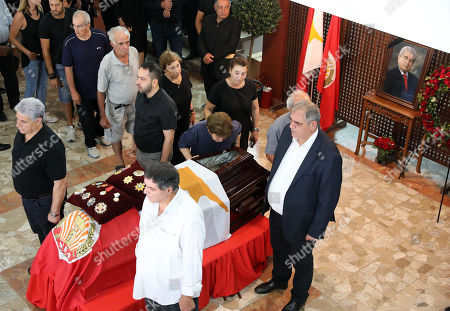 People pay their respects to former Cyprus President Demetris Christofias who passed away, Nicosia, Cyprus, 25 June 2019.  Christofias died 21 June and his funeral will take place on 25 June. Demetris Christofias was the sixth President of the Republic of Cyprus. He was elected President on 24 February 2008, and performed his duties until 28 February 2013.