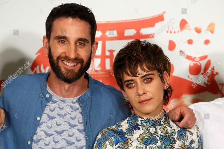 Dani Rovira (L) and Maria Leon pose during the presentation of the film 'Los Japon' (lit. The Japan) in Madrid, Spain, 25 June 2019. The film is a comedy based in a true story about a Japanese expedition that disembarked four centuries ago in the town of Cora del Rio in Seville, Spain, to settle there where descendants still live.