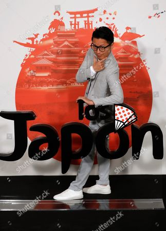 Ryo Matsumoto poses during the presentation of the film 'Los Japon' (lit. The Japan) in Madrid, Spain, 25 June 2019. The film is a comedy based in a true story about a Japanese expedition that disembarked four centuries ago in the town of Cora del Rio in Seville, Spain, to settle there where descendants still live.