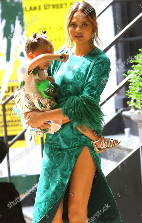 Editorial photo of Chrissy Teigen out and about, New York, USA - 24 Jun 2019