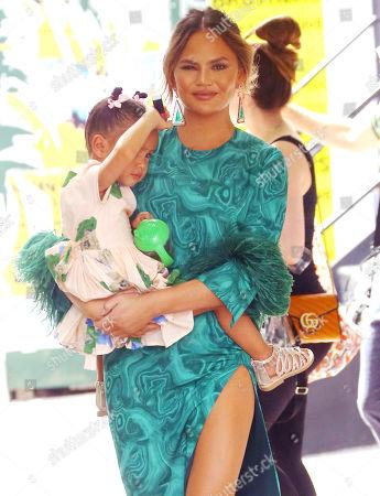 Chrissy Teigen and daughter Luna Stephens