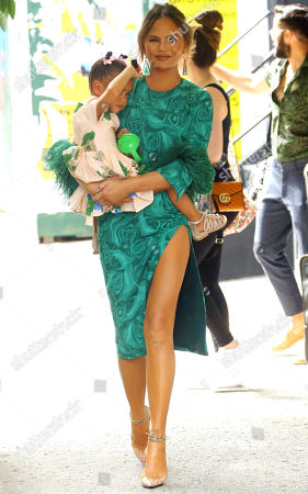 Editorial picture of Chrissy Teigen out and about, New York, USA - 24 Jun 2019