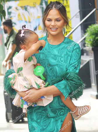 Editorial image of Chrissy Teigen out and about, New York, USA - 24 Jun 2019