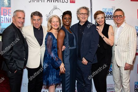Stock Picture of Marc E. Platt, Stephen Schwartz, Alecia Parker, Montego Glover, Bernard Telsey, Tara Rubin and Thomas Schumacher