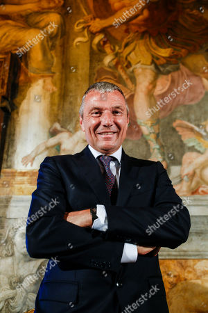"Jean Christophe Babin, CEO of the Bulgari Group, poses for portraits at the end of the presentation of the exhibition ""Bulgari. The story, the dream"" at St. Angel Castle in Rome, . The exhibition, which is on from June 26 till Nov. 3, 2019, features jewels and vintage haute couture pieces owned and worn by legendary actresses like, ElizabethTaylor, Ingrid Bergman, Sophia Loren, Gina Lollobrigida and Audrey Hepburn"