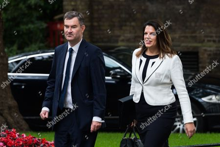 David Gauke, Lord Chancellor and Secretary of State for Justice and Caroline Nokes, Minister of State for Immigration arrive for the weekly Cabinet meeting at 10 Downing Street