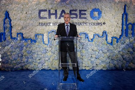 CO- Gordon Smith, Co-President and COO, JPMorgan Chase, speaks at the NYC Chase Flagship, in New York