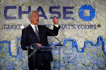 CO- Jamie Dimon, Chairman and CEO, JPMorgan Chase, speaks at the Chase NYC Flagship, in New York