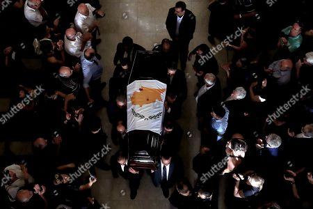 Editorial image of Christofias Funeral, Nicosia, Cyprus - 25 Jun 2019