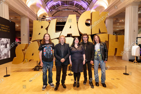 (L-R) Chris Hopkins, Geezer Butler, Lisa Mayer, Tony Iommi, Stephen Knowles