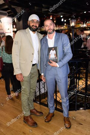 Monty Panesar and Fred Sirieix
