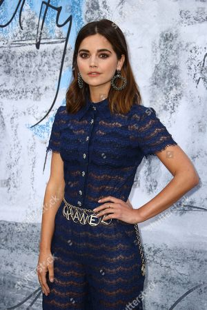 Jenna Coleman poses for photographers upon arrival for the Serpentine Gallery Summer Party in London