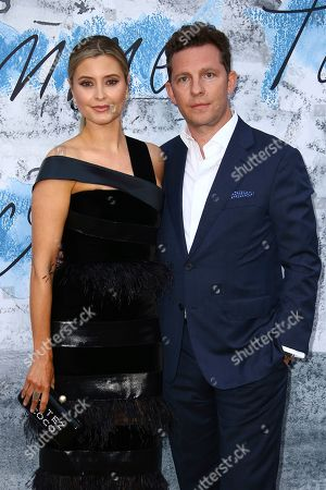 Holly Valance, Nick Candy. Holly Valance and Nick Candy pose for photographers upon arrival for the Serpentine Gallery Summer Party in London