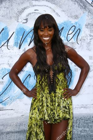 Lorraine Pascale poses for photographers upon arrival for the Serpentine Gallery Summer Party in London