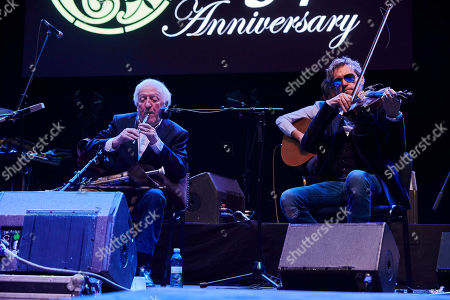 Stock Picture of The Chieftains and Carlos Nunez - Paddy Moloney and Jon Pilatzke