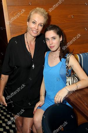 Frederique Van Der Wal with daughter Scyler Pim Klein