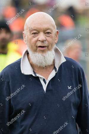 Michael Eavis shortly before he opens the gates of the festival for the first time at 7.30am
