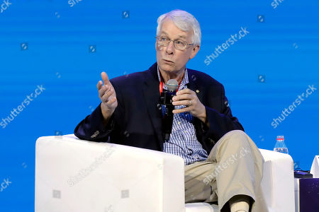 Richard John Roberts, Nobel Laureate in Medicine, Chairman of the Nobel Laureates Alliance, speaks during the dialogue with the theme 'Cooperative Innovation, Coalescing Development' during the Purple Mountain Innovation Conference at the opening ceremony of Nanjing Tech Week in Nanjing, Jiangsu province, China, 26 June 2019. As many as six Nobel Prize winners, nearly 180 Chinese and foreign academicians and about 2,300 guests from 45 countries and areas are to attend the Nanjing Tech Week running from 26 to 30 June.