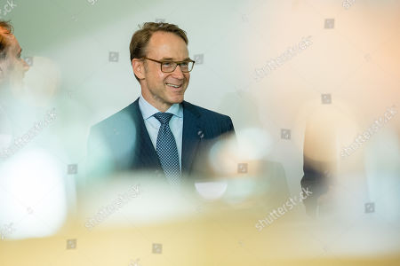 German Bundesbank President Jens Weidmann arrives for a cabinet meeting at the Chancellery in Berlin, Germany, 26 June 2019.