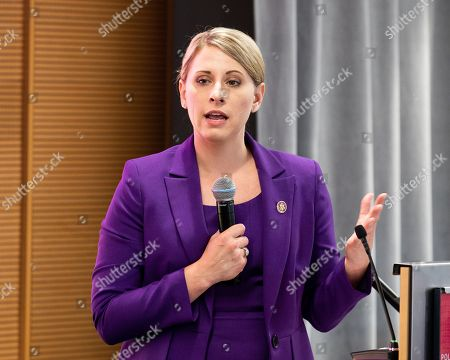 U.S. Representative Katie Hill (D-CA) speaking at the Ignite Young Women Run D.C. Conference in Washington, DC.