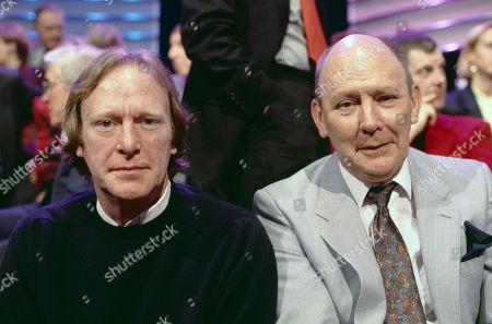 Dennis Waterman and Garfield Morgan, stars of ITV's tv series The Sweeney