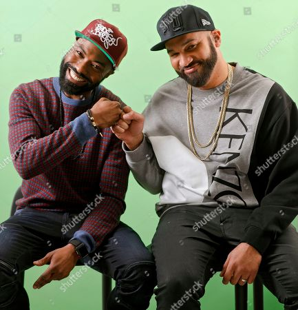 "Daniel Baker, The Kid Mero. This photo shows Daniel Baker, better known as Desus Nice, left, and The Kid Mero, also known as The Kid Mero, during a portrait session in New York. The pair host the late night series ""Desus & Mero,"" on Showtime"