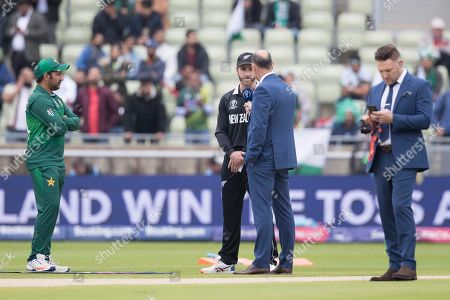 Kane Williamson (New Zealand) explains his decision to bat first with Nasser Hussain during New Zealand vs Pakistan, ICC World Cup Cricket at Edgbaston Stadium on 26th June 2019
