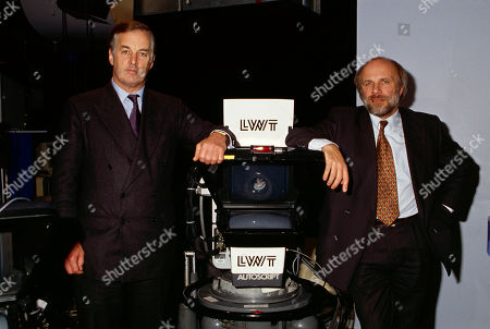 Sir Christopher Bland (LWT Chairman) and Greg Dyke (LWT Managing Director)