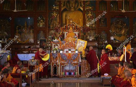 Editorial image of Seventeenth Gyalwa Karmapa, Ogyen Trinley Dorje's 34th birthday in Dharamsala, India - 26 Jun 2019