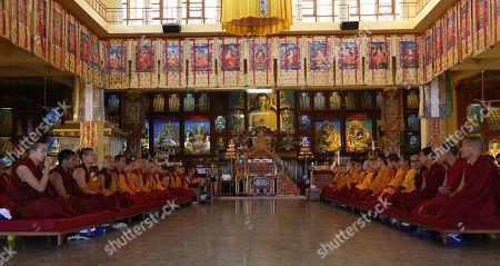 Editorial picture of Seventeenth Gyalwa Karmapa, Ogyen Trinley Dorje's 34th birthday in Dharamsala, India - 26 Jun 2019