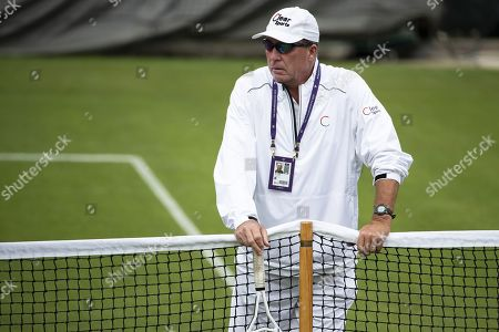 Ivan Lendl, coach of Alexander Zverev of Germany, attends a training session at the All England Lawn Tennis Championships in Wimbledon, London, Britain, 26 June 2019. The Wimbledon Tennis Championships 2019 will be held in London from 01 July to 14 July 2019.