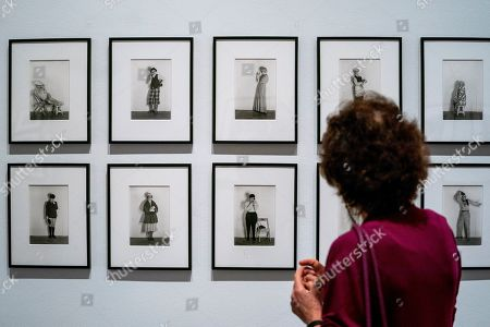 Editorial image of Press preview of exhibition of Cindy Sherman at National Portrait Gallery in London, United Kingdom - 26 Jun 2019